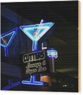 Cutters Lounge And Cigar Bar Wood Print