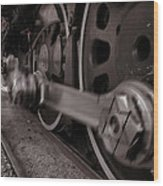 Cutting Through The Steam Wood Print