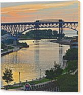 Cuyahoga River Cleveland Ohio Wood Print