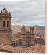 Cuzco Plaza Del Armas Wood Print