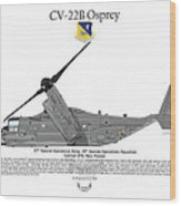 Cv-22b Osprey 20th Sos Wood Print by Arthur Eggers