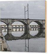 Cv - Susquehanna River Bridge Harrisburg  Pennsylvania Wood Print