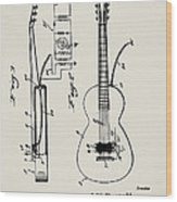 Cw Russell Acoustic Electric Guitar Patent 1939 Wood Print