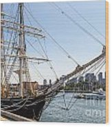 Cwm At The Boston Navy Yard Wood Print