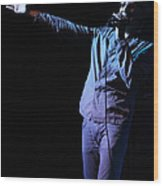 Cy Curnin - The Fixx - Vocalist Wood Print by Anthony Gordon Photography