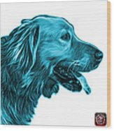 Cyan Golden Retriever - 4047 Fs Wood Print