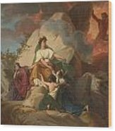 Cybele Opposing Vesuvius To Protect The Cities Of Stabia Wood Print