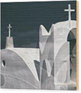 Cycladen Crosses Wood Print