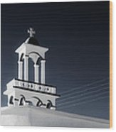 Cyclades Greece - Andros Island Church Wood Print