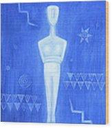 Cycladic Goddess - Middle Panel Wood Print
