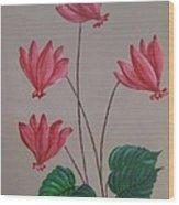 Cyclamen  Wood Print