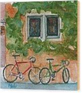 Cycle Cafe Wood Print