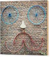 Cycle Face Wood Print