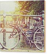 Cycle In Sun Wood Print