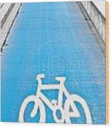 Cycle Path Wood Print