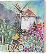 Cycling In The Mountains Of Gran Canaria Wood Print