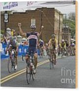 Cycling Stage Win Wood Print