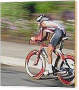 Cyclist Time Trial Wood Print