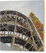 Cyclone Roller Coaster Wood Print