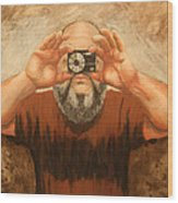 Cyclopes A Self Portrait Wood Print