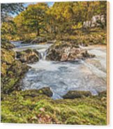 Cyfyng Falls Wood Print