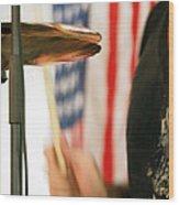 Cymbals Wood Print