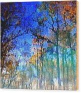 Cypress Fog 3 Wood Print