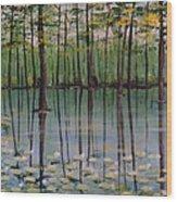 Cypress Garden Wood Print by Richard Goohs