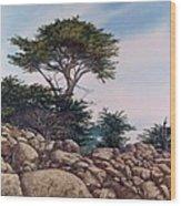 Cypress Garden Wood Print