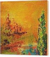 Cypress Gold Wood Print