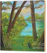 cypress Hidout Wood Print