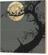 Cypress Moon Wood Print by Joe Jake Pratt