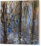 Cypress Reflection Nature Abstract Wood Print by Carol Groenen