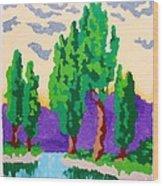 Cypress River Wood Print