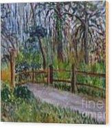 Cypress Trail At Loxahatchee Wood Print