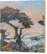 Cypress Tree Coast Wood Print