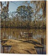 Cypress Trees At Caddo Lake State Park Wood Print