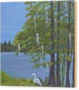 Cypress Trees At Lake Marion Wood Print