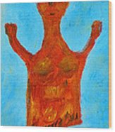 Cyprus Goddess With The Lifted Hands Wood Print by Augusta Stylianou