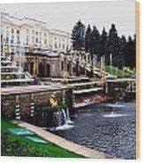 Czar Summer Palace Fountain Wood Print