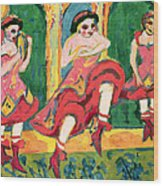 Czardas Dancers, 1908-20 Wood Print