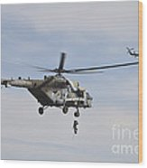 Czech Air Force Mi-171 Hips Training Wood Print