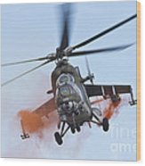 Czech Air Force Mi-35 Hind Helicopter Wood Print