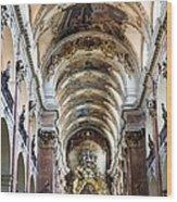 Czech Rep.. Prague. Church Of St Jacob Wood Print