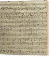 Czech Republic Prague Symphony No. 38 In D Major Called Prague Symphony Wood Print