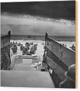 D-day Landing Wood Print