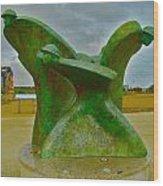 D-day Memorial For Juno Beach Heros Wood Print