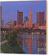 D2l38 Columbus Ohio Skyline Photo Wood Print