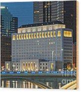 D2l496 Columbus Ohio Night Skyline  Wood Print