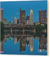 D2l64 Columbus Ohio Skyline Wood Print